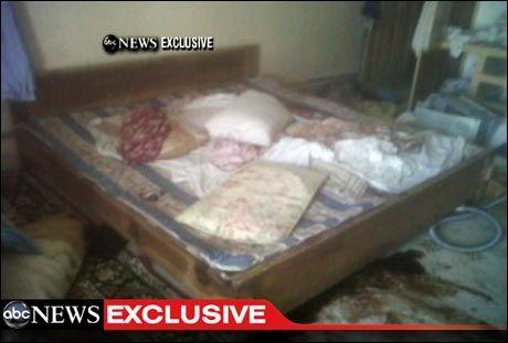 BLODIG AKSJON: I dette soverommet i tredje etasje i villaen skal Osama bin Laden ha blitt skutt og drept. Foto: ABC News
