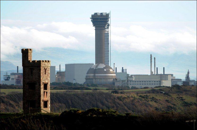 NÆR ATOMKRAFTVERK: De fem mennene ble tatt etter en rutinemessig politikontroll nær atomkraftverket Sellafield. Foto: PA photos
