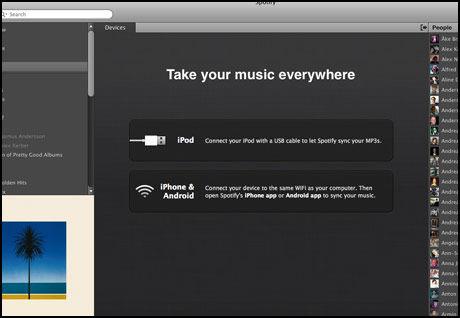Nå kan Spotify synkroniseres med vanlig iPod også. I tillegg er det mulig å overføre musikk trådløst til iPhone og Android-telefoner.