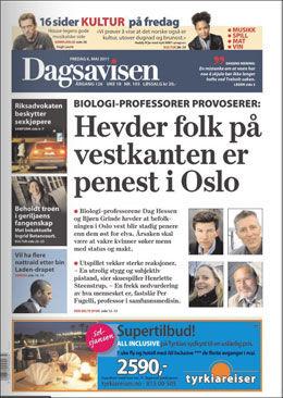 FAKSIMILE AV DAGSAVISEN 6.5.
