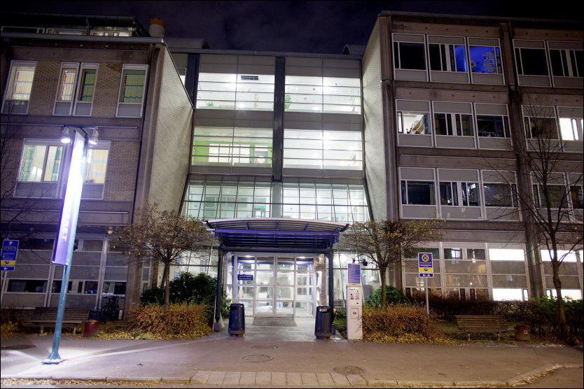 PÅ AVVEIE: Flere tusen henvisninger har ligget ubehandlet på en server hos Oslo universitetssykehus. Her fra inngangen til barneavdelingen på Oslo universitetssykehus Ulleuvål. Foto: Scanpix