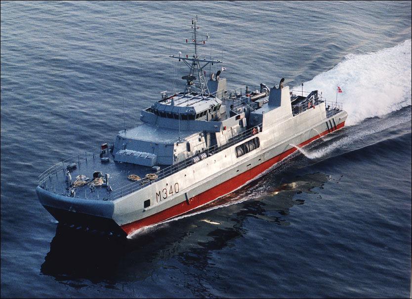 KASTER LOSS: Sjøforsvarets fartøyer, som minerydderen KNM «Oksøy», skal seile mer i tiden som kommer. Det sørger en ekstrabevilgning fra regjeringen for. Foto: FORSVARET Foto: