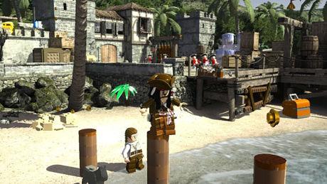 SUSETE: Jack Sparrow er akkurat like småbrisen og virrete i «Lego: Pirates of the Caribbean». Foto: TRAVELLERS TALES/DISNEY INTERACTIVE