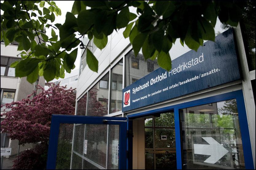 INNLAGT HER: Leieboeren (28) som drepte kunstneren Turid Holter i Fredrikstad har vært innlagt på Distriktspsykiatrisk senter DPS på Sykehuset Østfold Fredrikstad. Foto: OLE-MARTIN GRAV / VG