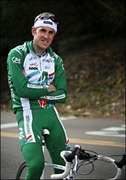 KRITISK: Mads Kaggestad, her avbildet som Credit Agricole-rytter i Santa Barbara i 2007, har nå sluttet med sykling. Foto: Thomas Nilsson
