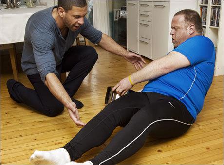 TYKK OG VELTRENT: Tommy Svendsen, som er kokk og restauranteier, var med på VGs og Yngvar Andersen test «I form på 4 uker» i fjor. Da veide han 129 kilo. Nå er vekten nede i 110, og han føler seg i god form. Foto: Frode Hansen