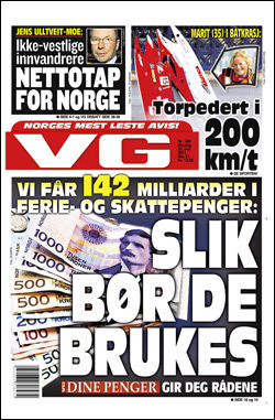 LES MER OM DENNE SAKEN I DAGENS PAPIRUTGAVE AV VG! Faksimile: VG (23.05.2011)