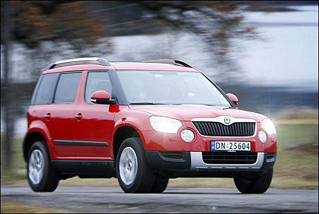 BROM BROM: Skoda Yeti med tohjulstrekk, 1,6-liters motor og et utslipp på 119 gram CO2 er landets magreste SUV, ifølge Opplysningsrådet for Veitrafikken. Foto: Jan Petter Lynau