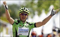 Sagan vant - Cunego i gult