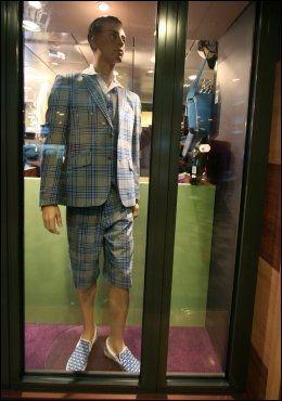 SHOPPING: I Fashion Shop på Superspeed 2 koster denne jakken 3599, vesten 799 og kortbuksen 959. Moods of Norway. Foto: Mona Langset