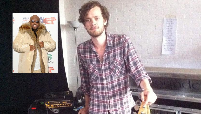 STJERNEHJELPER: Christoffer Borud skal spille bass i superstjernen Cee Lo Greens band i kveld. Foto: Privat / Scanpix
