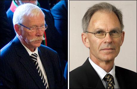 IKKE IMPONERT: Lars Myraune (H) og Arne Sortevik (Frp). Foto: Scanpix