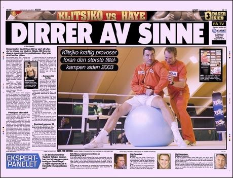 Les mer om boksekampen i dagens VG! Foto: Faksimile fra vg 29. juni.
