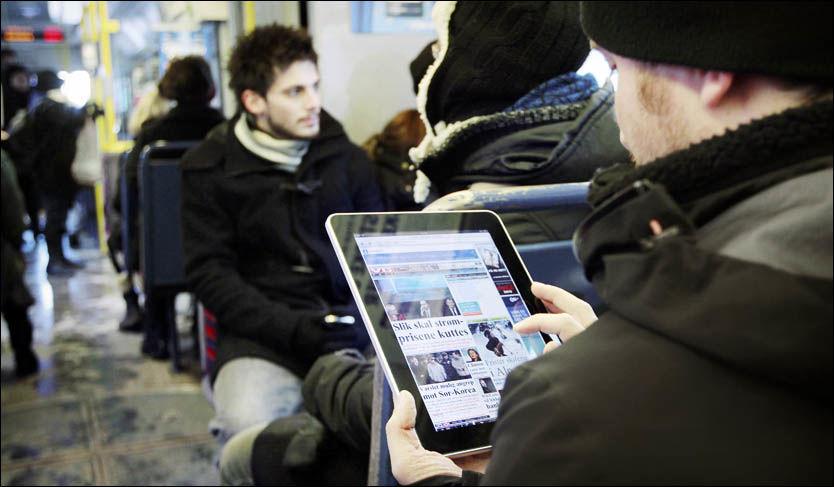 FILM ville vært greit tidsfordriv også på T-banen Foto: Scanpix/ Erlend Aas