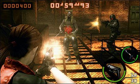 UBALANSERT: «Resident Evil: The Mercenaries 3D» går fra å være helt meningsløst enkelt til å bli så vanskelig at selv 20 forsøk ikke hjelper. Foto: CAPCOM