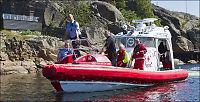 Røde Kors-båt gikk på skjær på ulykkesstedet