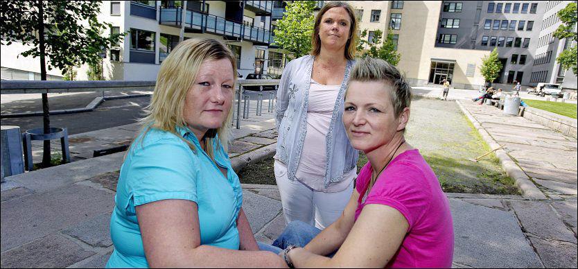 SENDER KLAGE: Ellen og Anette Nyborg skal sammen med Jeanette Fjeldheim, jurist i LLH, klage Ståle Solberg inn for Likestillings- og diskrimineringsombudet. Foto: Espen Braata