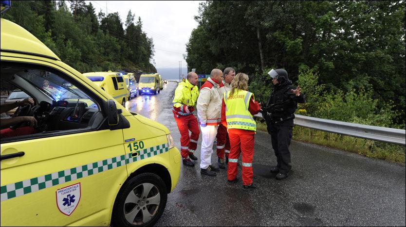 FLERE KAN VÆRE DREPT: Politiet frykter at dødsfallene fra Utøya kan stige, nå som finsøket er i gang på øya. Foto: SCANPIX