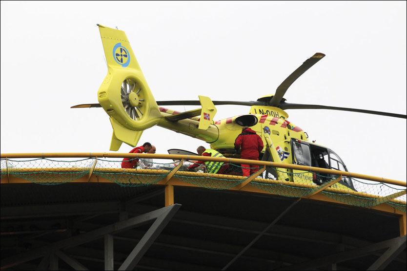 SKADEDE: Skadede fra terroranslagene Utøya og Regjeringskvartalet har i hele ettermiddag kommet til Oslo universitetssykehus. Foto: TORE KRISTIANSEN
