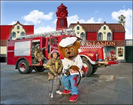 BRANNSTASJON: Barnas brannstasjon er en nyhet i Kongeparken i år. Foto: Kongeparken