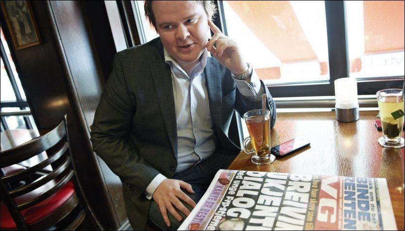 - VILLE REAGERT PÅ BREIVIK: Dagens FpU-leder, Ove Vanebo, sier han ville ha reagert på Anders Behring Breiviks innlegg, som VG omtalte onsdag. Foto: Kristian Helgesen