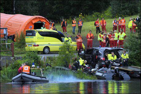 FRAKTET I LAND HER: VG får opplyst at både 17-åringen og Anders Behring Breivik ble fraktet i land hit fra Utøya. De ble ikke transportert sammen. Foto: HELGE MIKALSEN Foto: