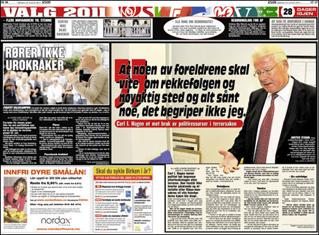 FAKSIMILE: VG søndag 14. august 2011.