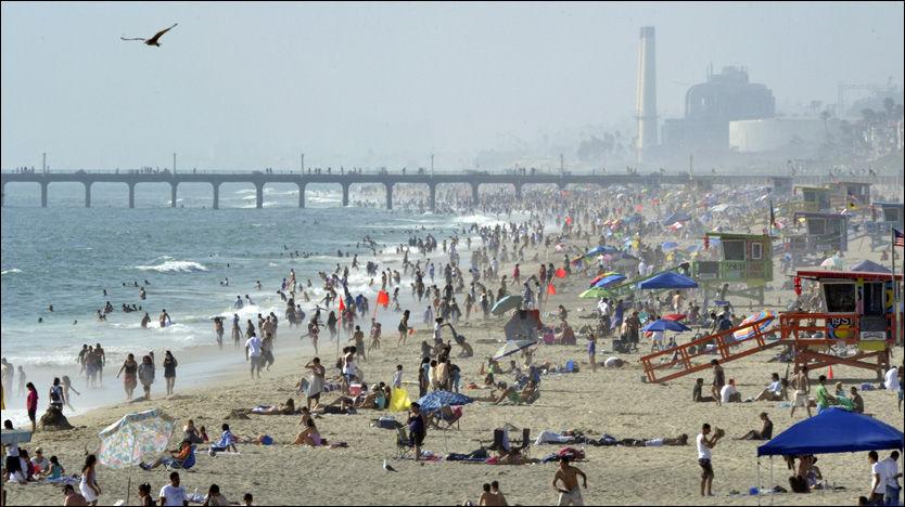 PÅGREPET: Nordmannen leaset en bolig ved Hermosa Beach i Los Angeles. Ifølge politiet skal han også ha avtalt kjøp av en bolig verdsatt til 16 millioner kroner. Foto: AP