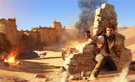 NYE EVENTYR: Nathan Drake er klar for nye eventyr i «Uncharted 3». Foto: NAUGHTY DOG/SONY