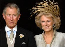 BRUDEHATT: Camilla i Treacy-hatt da hun giftet seg med prins Chrles i 2005. Foto: Reuters