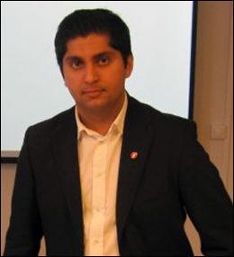 Himanshu Gulati, 1. nestformann i Fremskrittspartiets Ungdom. Foto: FpU
