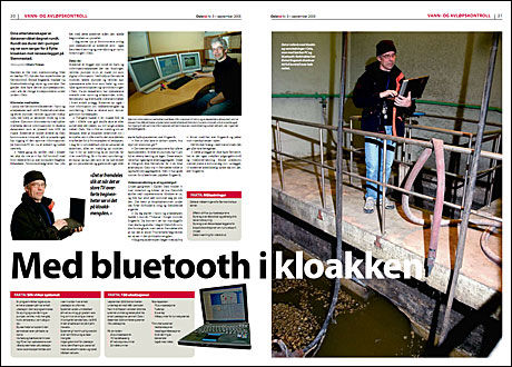 NYTT I 2005: Da bluetooth-systemet sto ferdig i 2005 hadde Oslo kommunes informasjonsavis Oslo Nå denne artikkelen om teknologien som det nå er avslørt store sikkerhetsbrister rundt. Foto: Faksimile