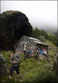 toppløs på fjellet strømpebux