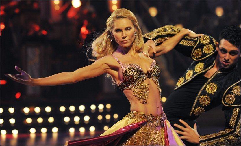 «SKAL VI DANSE»-deltaker: Anna Anka (40) på dansegulvet for TV2. Foto: Scanpix