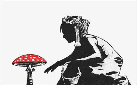 POPULÆR KUNST: 250 stykker av dette trykket, laget av Street-art kunstneren Dolk, ble utsolgt på 40 minutter. Foto: Handmadeposters.com