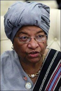 Johnson-Sirleaf leder valget i Liberia