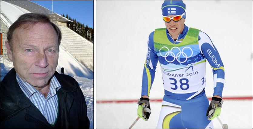 AVSLØRT: Juha Lallukka, her fra OL i Vancouver i 2010, ble tatt for doping denne uken. Det er dopingjeger Inggard Lereim (t.v) skuffet over. Foto: Ole Kristian Strøm/Scanpix/VG Nett montasje