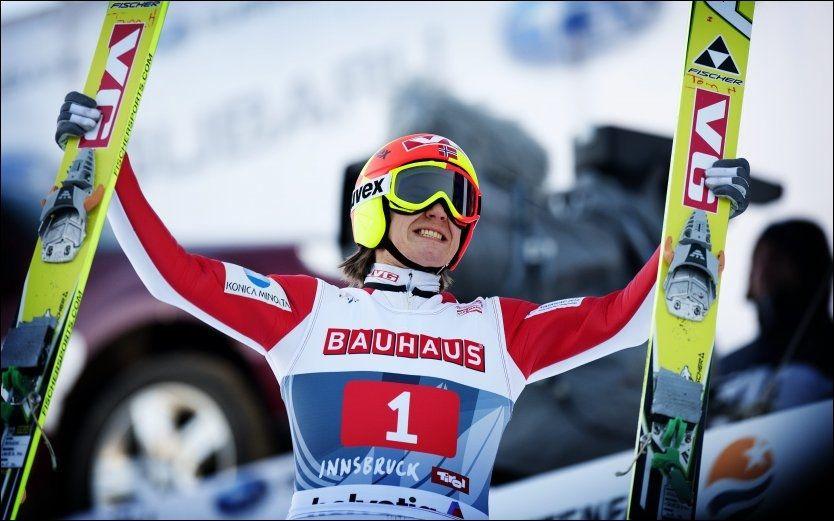 SESONG-KLAR: Tom Hilde er mer enn klar til å komme i gang med hoppsesongen. Her er den norske skihelten fra hoppuka i 2011, da han tok en tredjeplass. Foto: Gøran Bohlin, VG