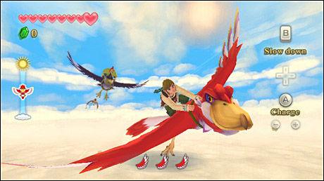 PÅ VINGENE: Deler av «Skyward Sword» vil du tilbringe på vingene av en enorm fugl. Foto: NINTENDO