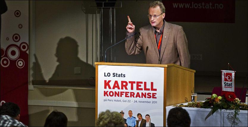 ANGREP: Raymond Johansen tok et oppgjør med leverandørene av ekstreme meninger under Kartellkonferansen på Gol tirsdag ettermiddag.