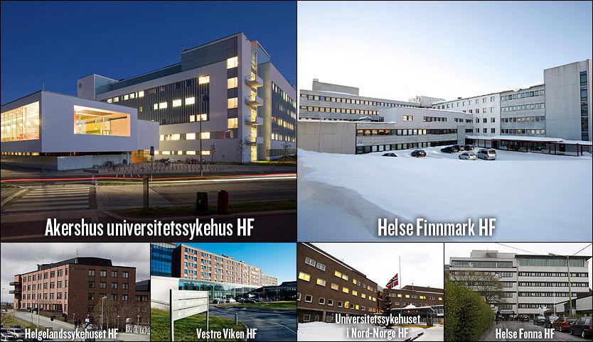 MEST UTSATT: Disse sykehusene må betale mest i pasientskadeerstatning. Foto: Scanpix