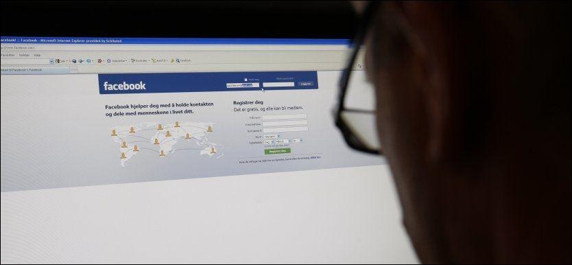 HACKET FACEBOOK-KONTOER: Politiet har fått flere anmeldelser fra personer som har blitt frastjålet Facebook-kontoene sine. Foto: Scanpix