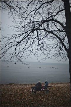 HAVBLIKK: Vakre Visby ligger idyllisk til ved havet. Foto: Marte Vike Arnesen
