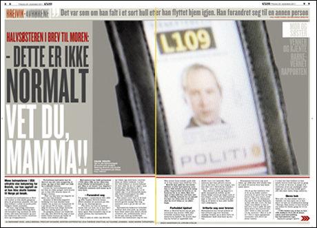 Faksimile fra dagens papirutgave av VG Foto: