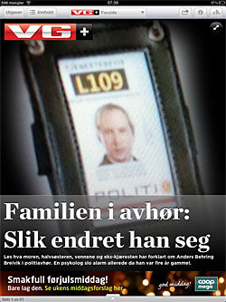 Faksimile fra dagens VG Foto:
