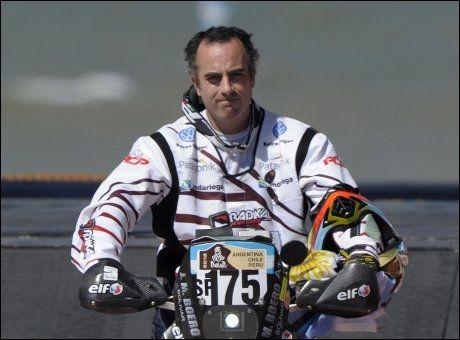 OMKOM: Den argentiske motorsyklisten Jorge Martinez Boero. Foto: Afp