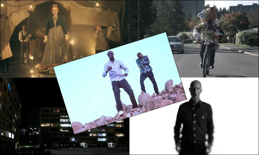 NOMINERTE: Ane Brun (øverst fra venstre), Casiokids, Sivert Høyem, Cold Mailman og Envy (i midten) kan vinne Spellemann for «Årets video».