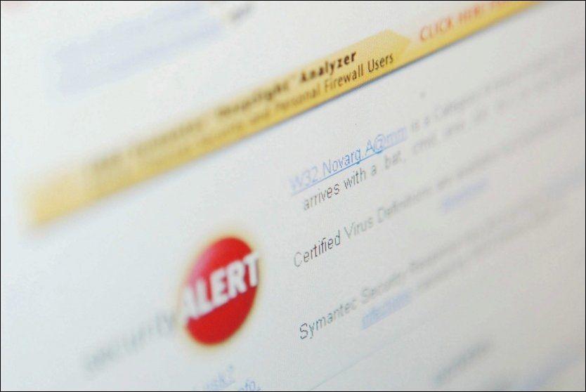 ØKER: Datavirus har de siste årene utgjort en stadig større trussel mot ferdsel og informasjonsutveksling på Internett. Foto: Scanpix