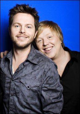GODE VENNER: Espen Lind (40) og Kurt Nilsen (33) på et bilde fra 2009. Foto: KRISTIAN HELGESEN