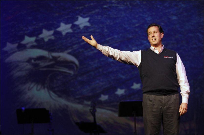 FÅR STØTTE: Rick Santorum får verdifull støtte fra en gruppe kristenkonservative. Foto: REUTERS